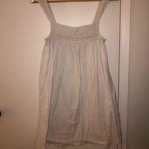 Dresses & Skirts - White Crochet Mini Dress